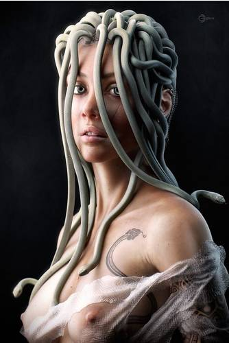 Young Medusa by George Manolache | Portrait | 3D | CGSo