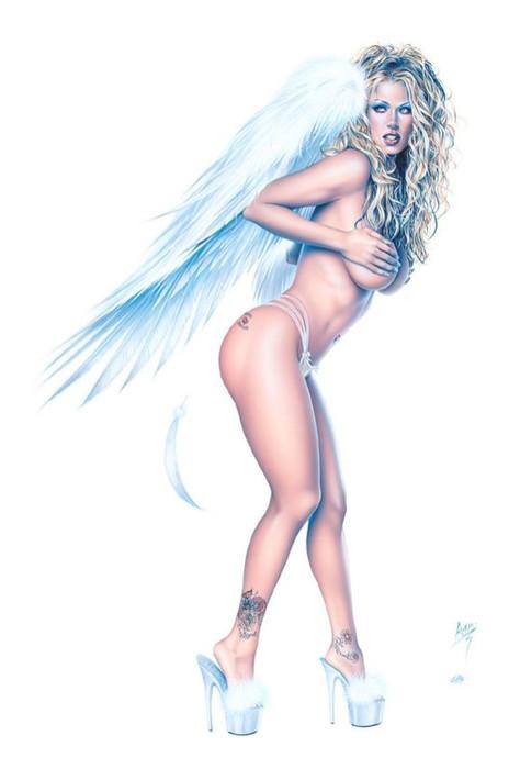 Белый Ангел в женском лике