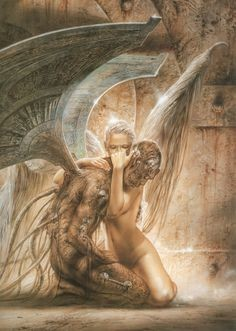 Fallen Angel by Luis Royo