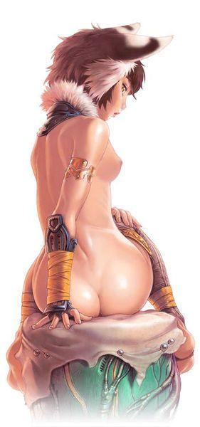 Стройная рисованная леди со спины
